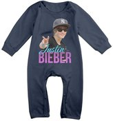 Enlove Justin Bieber Logoalbum BABY Funny Long Sleeves Baby Onesies Bodysuit For Boys Size 6 M