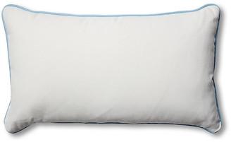 Celerie Kemble For One Kings Lane Kit 14x24 Outdoor Lumbar Pillow - White/Blue