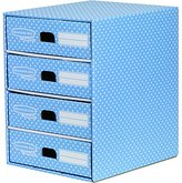 Fellowes Bankers Box Style 4 Drawer Unit - Blue/White