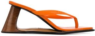 Marni Sculptured Wedge Thong Sandals