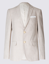 M&S Collection Linen Rich Textured Tailored Fit Jacket