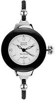 Glam Rock Miami Beach Art Deco collection MBD27185 36mm Stainless Steel Case Black Nylon Mineral Women's Watch