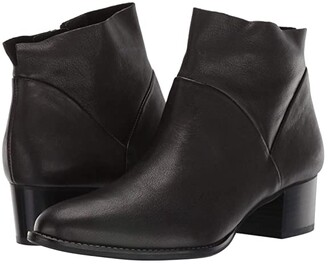 Paul Green Nelly Bootie (Black Leather) Women's Boots