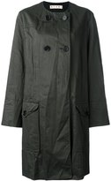 Marni double breasted coat - women - Cotton/Linen/Flax/Acetate/Viscose - 44