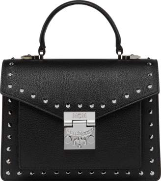 MCM Patricia Satchel In Studded Outline Leather