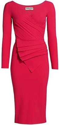 Chiara Boni Kaya Pleated Detail Sheath Dress