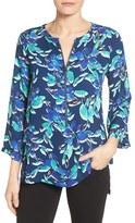 Chaus Women's Floral Zip Front Blouse