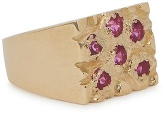 Bleue Burnham Mini Rose Garden 9kt Gold Signet Ring