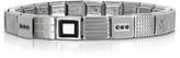 Nomination Steel Ikons Geometric Stainless Steel Bracelet w/Black Enamel and Cubic Zirconia