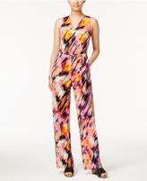 NY Collection Petite Printed Wide-Leg Jumpsuit