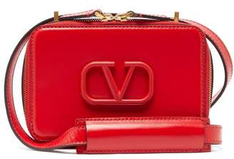 Valentino V-sling Small Leather Cross-body Bag - Womens - Red