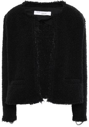 IRO Strut Frayed Chain-embellished Boucle Jacket
