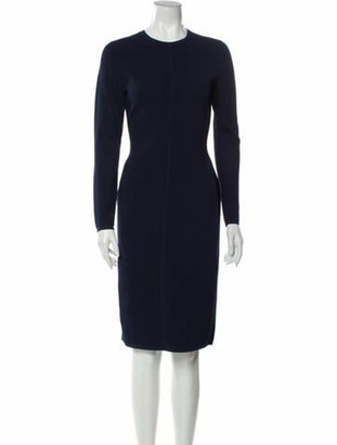 Narciso Rodriguez Crew Neck Knee-Length Dress w/ Tags Blue