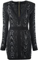Balmain leopard pattern mini dress - women - Polyamide/Viscose - 38