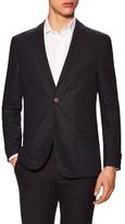 Vince Camuto Notch Collar Tweed Suit Jacket