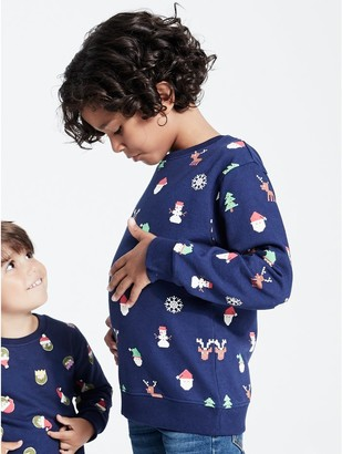 M&Co Christmas sweatshirt (3-12yrs)