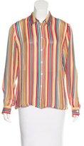 Cacharel Silk Striped Top