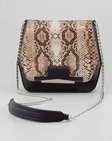 Danielle Nicole Bella Snake-Embossed Crossbody Bag, Black
