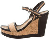 Prada Sport Cork Wedge Sandals