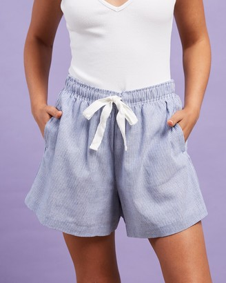 Nude Lucy Women's Blue Shorts - Nude Classic Shorts - Size XS at The Iconic