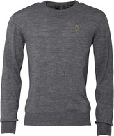 Luke 1977 Mens Gerard 3 Crew Neck Jumper Medium Marle Grey