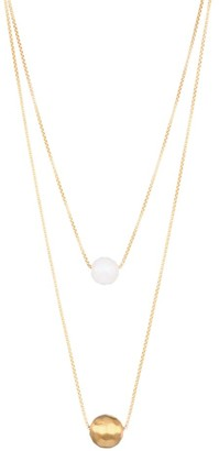 Dean Davidson Manhattan 22K Yellow Goldplated & Rainbow Moonstone Layered Necklace