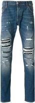 Philipp Plein distressed 'Bear' jeans - men - Cotton/Elastodiene/Polyester/Spandex/Elastane - 34