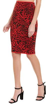 BCBGMAXAZRIA Printed Midi Skirt