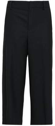 Vince Cropped Stretch-wool Wide-leg Pants