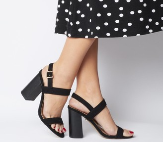 Office Happiness Two Part Sandals Black