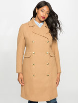 ELOQUII Plus Size Double Breasted Coat