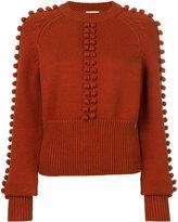 Chloé pompom knit sweater - women - Nylon/Viscose/Wool - S