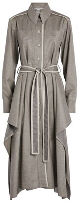 Stella McCartney Leilani Wool Shirt Dress