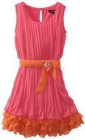 My Michelle Girls 7-16 Double Layer Pleated Dress