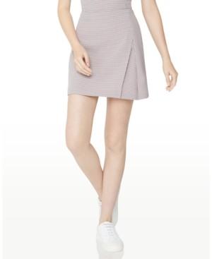 BCBGeneration Houndstooth-Print Mini Skirt