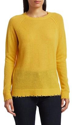 Minnie Rose Distressed Cashmere Knit Sweater