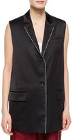 Rag & Bone Donnie Long Button-Front Vest