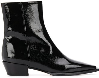 AEYDĒ Patent Leather Boots