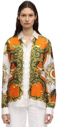 Casablanca Les Parfums Print Silk Shirt