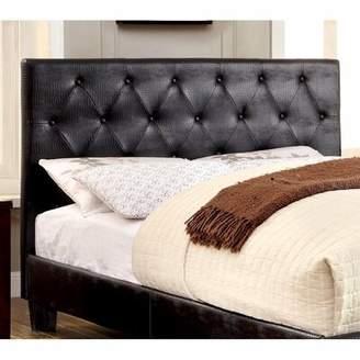 Ceibhfhionn Crocodile Leatherette Upholstered Platform Bed W/button Tufting Headboard Latitude Run Size: California King
