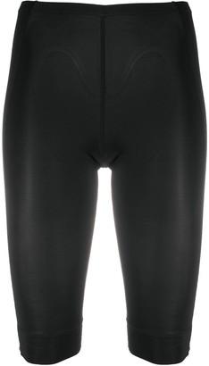 Ganni Semi-Sheer Cycling-Style Shorts