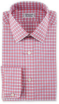 Charvet Check Cotton Dress Shirt, Red/Blue