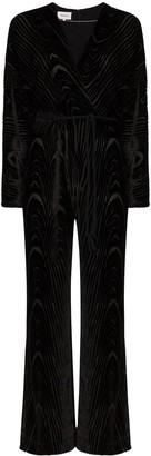 Nanushka Jax devore velvet jumpsuit