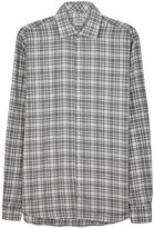 J.lindeberg Cream Checked Brushed Cotton Shirt