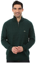 Lacoste Cable 1/4 Zip Cotton Sweater
