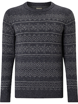 Selected Homme Crew Neck Pattern Jumper, Grey