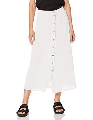 New Look Women's Button Through Skirt,8 (Manufacturer Size: )