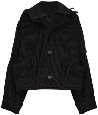Y-3 knitted hooded jacket