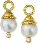 Elizabeth Locke Pearl & Diamond Earring Pendants
