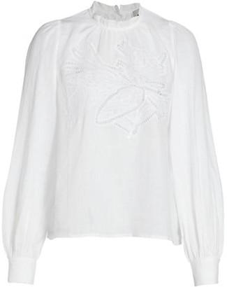 Rachel Comey Lace Inset High-Neck Top